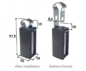 Dimensioni Hard Tag RFID UHF Confidex Captura