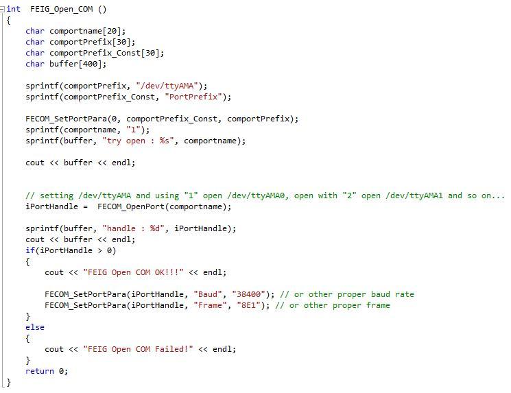 Apertura Porta Seriale comunicazione Raspberry pi - codice completo