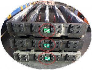 Tag RFID per traccaire lo stata avanzamento della produzione di traverse in Lodovichi Domenico