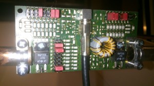 Tuning Board FEIG ID ISC.MAT-B utilizzata per la calibrazione di un'antenna custom realizzata in tubo di rame
