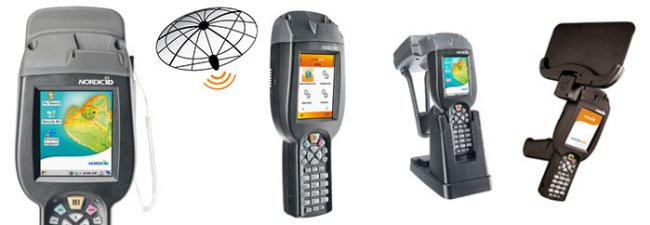 PDA Mobile Computer Nordic ID Merlin RFID UHF Cross Dipole 500 mW. Bluetooth, WLAN, 3G Mobile, GPS, Imager 2D.