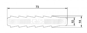 Dimensioni Special Tag RFID UHF Pino