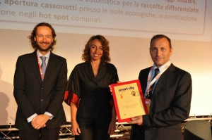 Ivano Voghera, Responsabile ICT in ASM Venaria, ritira a SMAU Milano 2012 il Premio Smart City