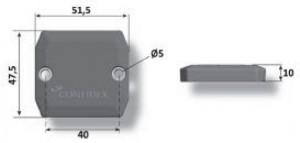 Dimensioni Hard Tag RFID On-Metal UHF Ironside Global by Confidex