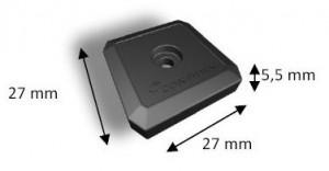 Dimensioni On Metal Tag RFID UHF Confidex Ironside Micro