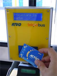 Ticketing RFID per il trasporto pubblico, ATVO