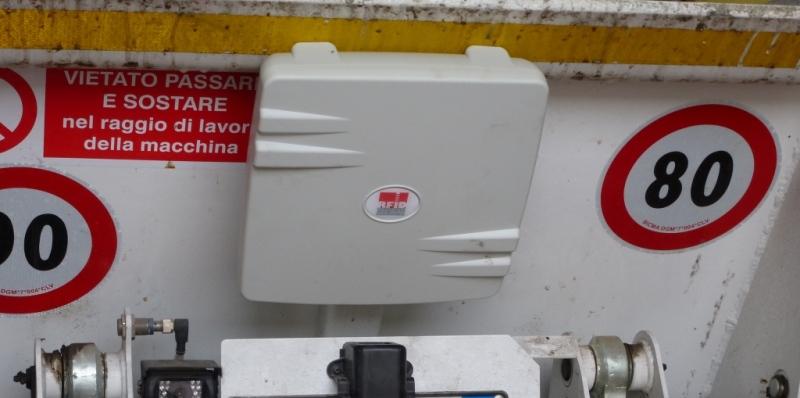 Gestione Raccolta Rifiuti RFID UHF - Montaggio Oberon 350 su Porter