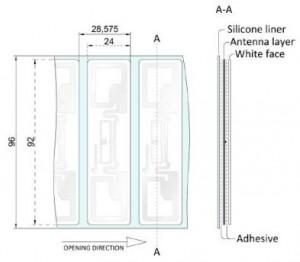 Dimensioni Special Label RFID UHF Casey