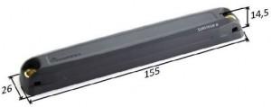 Rugged On-Metal Battery Assisted Passive Tag RFID UHF Confidex Survivor BAP - dimensioni