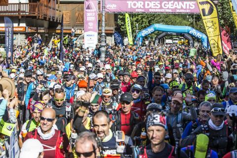 Tor des Géants 2017 - partenza a Courmayeur - ph Stefano Jeantet